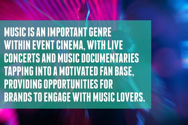 Music is an important genre of cinema