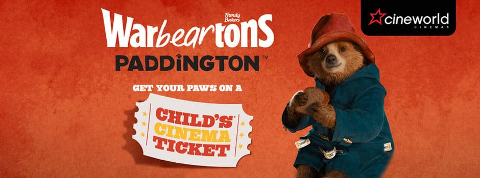Warburtons-Paddington Filmology Cinema Ticket Promotion